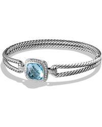 David Yurman - Albion® Bracelet With Blue Topaz And Diamonds, 11mm - Lyst