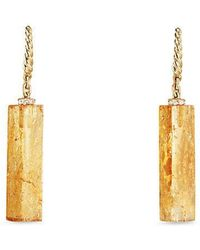 David Yurman - Bijoux Fine Bead And Chain Earrings With Imperial Topaz - Lyst