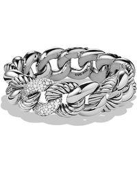 David Yurman - Belmont Curb Link Bracelet With Diamonds, 18mm - Lyst