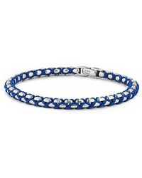 David Yurman - Woven Box Chain Bracelet In Blue, 4.8mm - Lyst