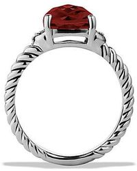 David Yurman - Petite Wheaton® Ring With Garnet And Diamonds - Lyst
