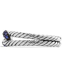 David Yurman - Petite Pave Loop Ring With Blue Sapphire - Lyst