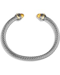 David Yurman - Cable Classic Bracelet With Citrine And 14k Gold, 5mm - Lyst