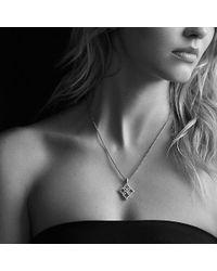 David Yurman - Venetian Quatrefoil Pendant Necklace With Diamonds In 18k Gold - Lyst