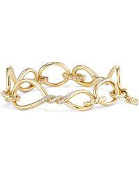 David Yurman - Continuance Chain Bracelet With Diamonds In 18k Gold - Lyst