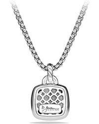 David Yurman - Albion® Pendant With Amethyst And Diamonds, 14mm - Lyst