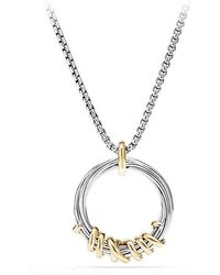 David Yurman - Helena Pendant Necklace With Diamonds And 18k Gold - Lyst