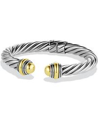 David Yurman - Cable Classics Bracelet With 14k Gold, 8.5mm - Lyst