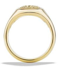 David Yurman - Petrvs Bee Signet Pinky Ring In 18k Gold - Lyst