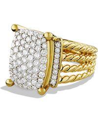 David Yurman - Wheaton Ring With Diamonds In 18k Gold - Lyst