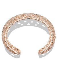 David Yurman - Venetian Quatrefoil Wide Cuff Bracelet With Diamonds In 18k Rose Gold, 41mm - Lyst