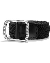 David Yurman - Maritime Cable Buckle With Black Woven Belt - Lyst