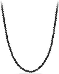 David Yurman - Spiritual Bead Black Onyx Necklace - Lyst