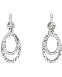 David Yurman - Continuance Drop Earrings With Diamonds - Lyst