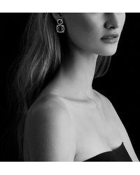 David Yurman - Châtelaine® Pave Bezel Double Drop Earring With Blue Topaz, Hampton Blue Topaz And Diamonds - Lyst