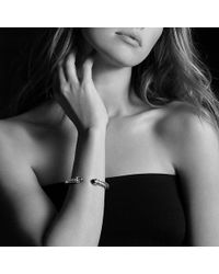 David Yurman - Cable Classic Crossover Bracelet With Pearls And Diamonds, 7mm - Lyst