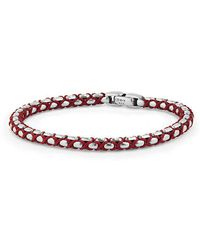 David Yurman - Woven Box Chain Bracelet In Red - Lyst