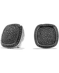David Yurman - Albion Earrings With Black Diamonds, 14mm - Lyst