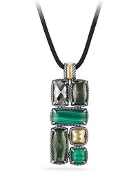 David Yurman - Chatelaine® Large Mosaic Pendant Necklace With 18k Gold - Lyst