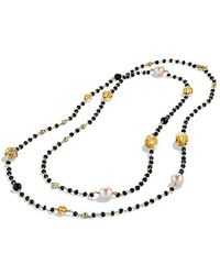 David Yurman - Bijoux Bead Necklace With South Sea Pearls And Citrine In 18k Gold - Lyst