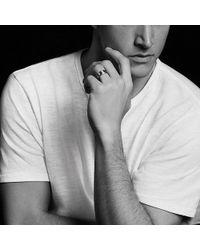 David Yurman - Streamline Beveled Edge Band Ring With Black Diamonds And Black Titanium, 8.5mm - Lyst