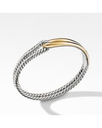 David Yurman - Labyrinth Single-loop Bracelet With 18k Gold, 10mm - Lyst