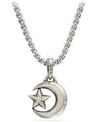 David Yurman - Star And Crescent Amulet - Lyst