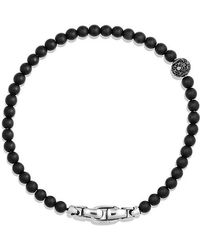 David Yurman - Spiritual Beads Pave Station Bracelet With Black Onyx And Black Diamonds - Lyst