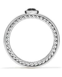 David Yurman - Streamline® Band Ring With Black Diamond, 8mm - Lyst