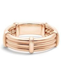David Yurman - Dy Astor Wrap Band Ring With Diamonds In 18k Rose Gold, 6mm - Lyst