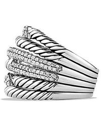 David Yurman - Labyrinth Triple-loop Ring With Diamonds - Lyst