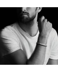 David Yurman   Chevron Id Bracelet With Blue Sapphire   Lyst
