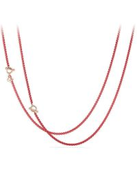 David Yurman - Dy Bel Aire Chain Necklace In Coral Color With 14k Rose Gold Accents - Lyst