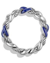 David Yurman - Bracelet With Lapis Lazuli, 18mm - Lyst
