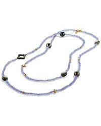 David Yurman - Dy Signature Bead Necklace With Tanzanite, Labradorite, Diamonds And 18k Gold - Lyst