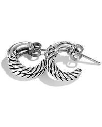 David Yurman - Labyrinth® Single-loop Earrings With Diamonds - Lyst