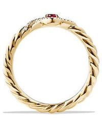 David Yurman | Venetian Quatrefoil® Ring With Ruby And Diamonds In 18k Gold | Lyst
