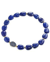 David Yurman - Delta Bead Necklace With Lapis Lazuli, Blue And Gray Sapphire And 18k Gold - Lyst