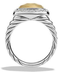 David Yurman - Albion® Ring With Diamonds And 18k Gold - Lyst