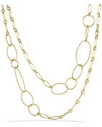 David Yurman - Mobile Link Necklace In 18k Gold - Lyst