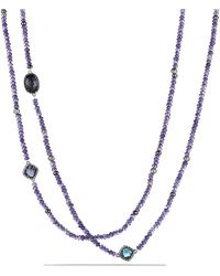 David Yurman - Dy Signature Bead Necklace With Amethyst, Black Orchid And Hematine - Lyst