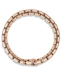 David Yurman - Box Chain Bracelet In 18k Rose Gold, 7.5mm - Lyst