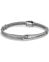 David Yurman - Petite Pavé Labyrinth Single-loop Bracelet With Diamonds - Lyst