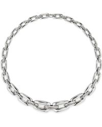 David Yurman - Wellesley Linktm Short Chain Necklace With Diamonds - Lyst