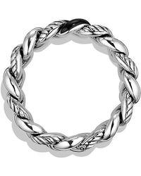 David Yurman - Belmont Curb Link Bracelet With Black Onyx, 18mm - Lyst