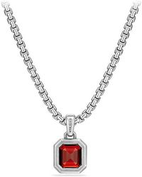 David Yurman - Petrvs Emerald Cut Amulet With Garnet - Lyst