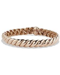 David Yurman - Hampton Cable Bracelet In 18k Rose Gold, 8.5mm - Lyst