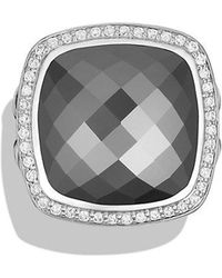 David Yurman - Albion® Ring With Hematine And Diamonds, 17mm - Lyst