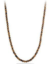 David Yurman | Spiritual Bead Necklace With Tiger's Eye | Lyst