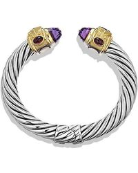 David Yurman - Renaissance Bracelet With Amethyst, Iolite, And 14k Gold, 10mm - Lyst